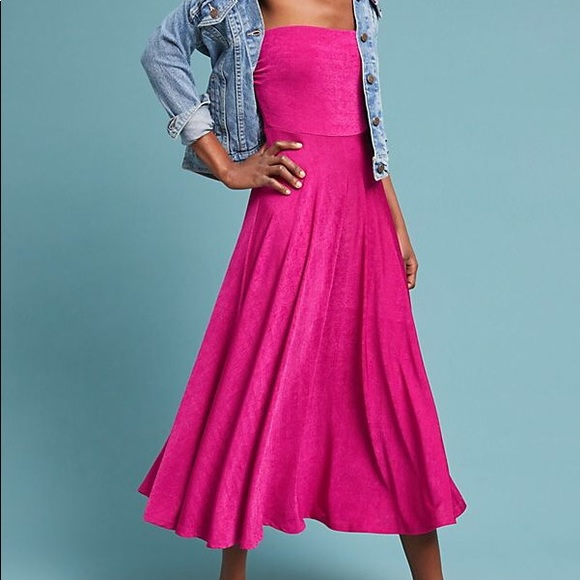 76796ae9bbf8 Anthropologie Dresses & Skirts - Penny midi dress hot pink from Anthropology